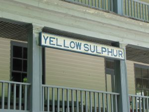 Yellow Sulphur Springs sign