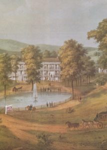 Old Yellow Sulphur Springs lithograph